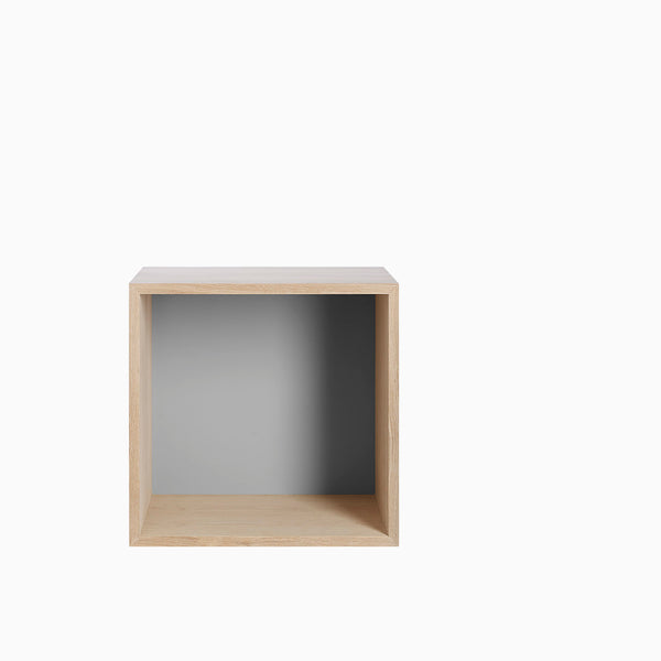 Muuto Mini Stacked Medium Ash with Grey Backboard