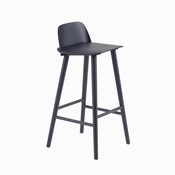 Muuto Nerd Bar Stool Midnight Blue
