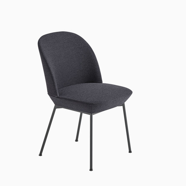 Muuto Oslo Side Chair Ocean 601 / Anthracite Black Legs