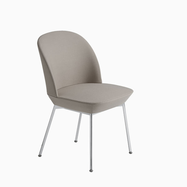 Muuto Oslo Side Chair Steelcut 240 Chrome Legs