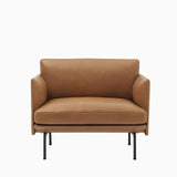 Muuto Outline Chair Cognac Silk Leather