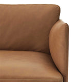 Muuto Outline Chair Cognac Silk Leather Detail