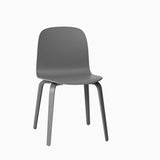 Muuto Visu Chair Wood Base Dark Grey