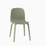 Muuto Visu Chair Wood Base Dusty Green