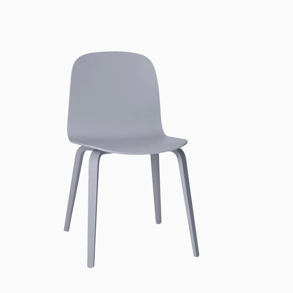 Muuto Visu Chair Wood Base Grey