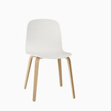 Muuto Visu Chair Wood Base White With Oak Legs