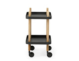 Normann Copenhagen Block Table Black Side VIew
