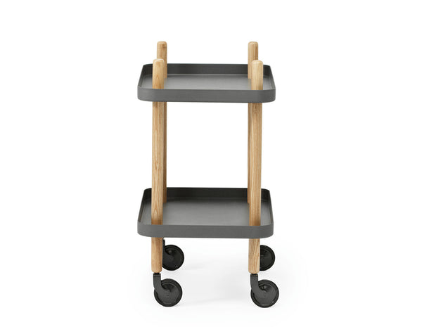 Normann Copenhagen Block Table Dark Grey Side View