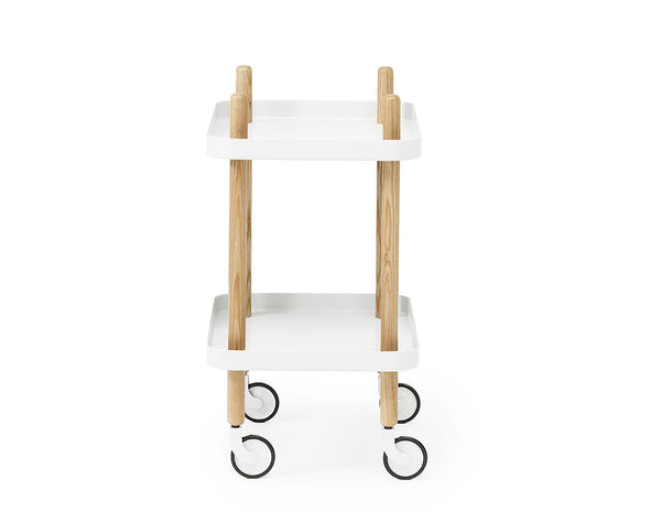 Normann Copenhagen Block Table White Side View