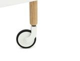 Normann Copenhagen Block Table White Wheels