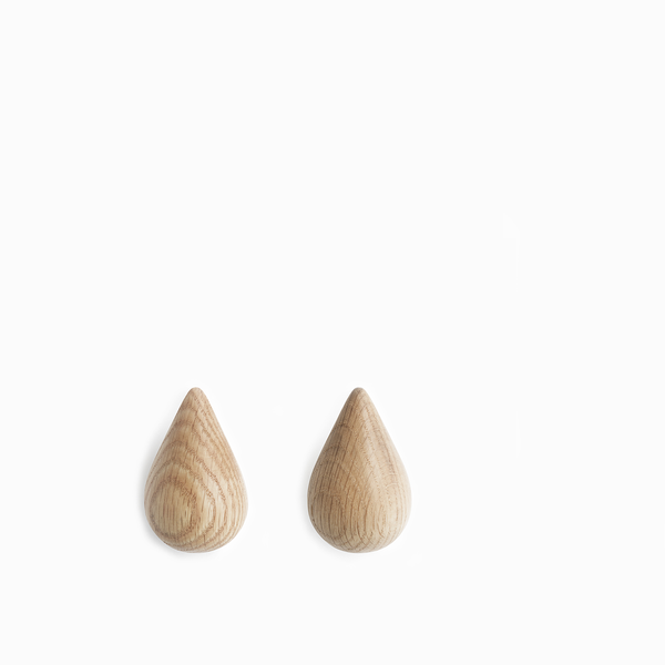 Normann Copenhagen Dropit Hooks Natural (2 sizes)