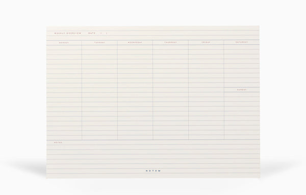 Notem Milo Weekly Planner Notepad