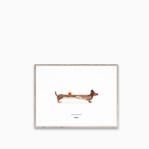 Paper Collective Doug The Daschund 30x40cm
