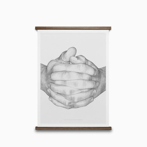 Paper Collective Folded Hands Print