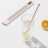 Porter Metal Straws W/Cleaner - Copper