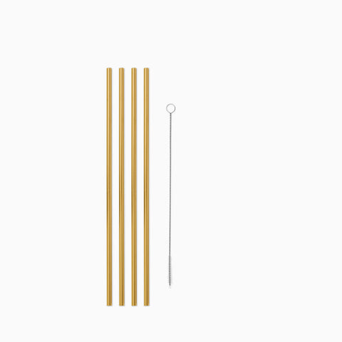 Porter Metal Straws Gold Set of 4