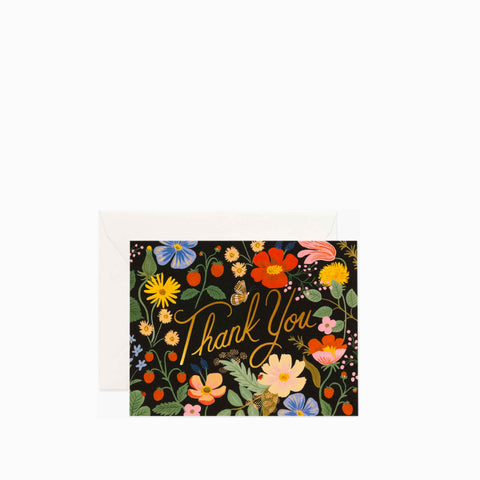 Rifle Paper Co Strawberry Fields Thank You