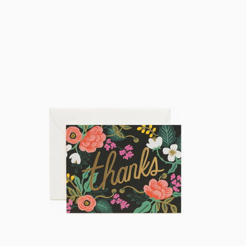 Rifle Paper Co Birch Floral Thanks