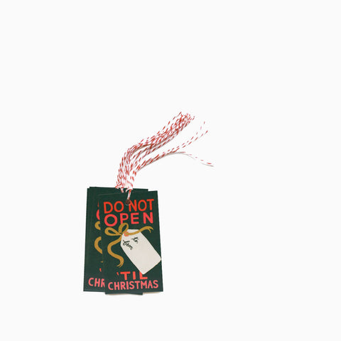 Rifle Paper Co Do Not Open Till Christmas Gift Tags