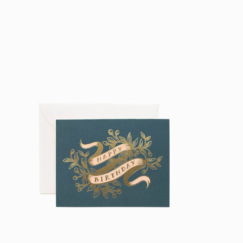 Rifle Paper Co Foil Banner Birthday Card
