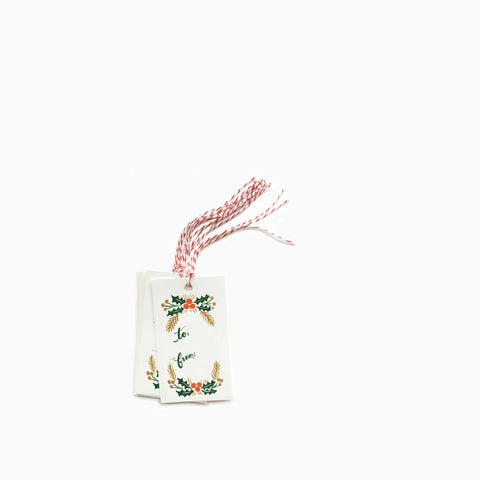 "Rifle Paper Co ""Garland"" Gift Tags (Set of 10)"