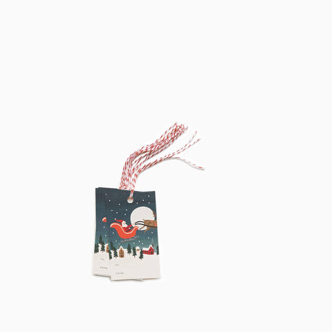 "Rifle Paper Co ""Santa's Sleigh"" Gift Tags (Set of 10)"