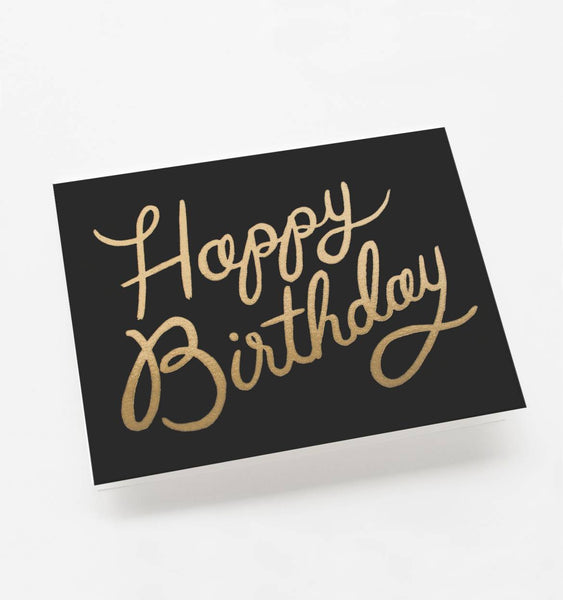 Rifle Paper Co Shimmering Birthday Card
