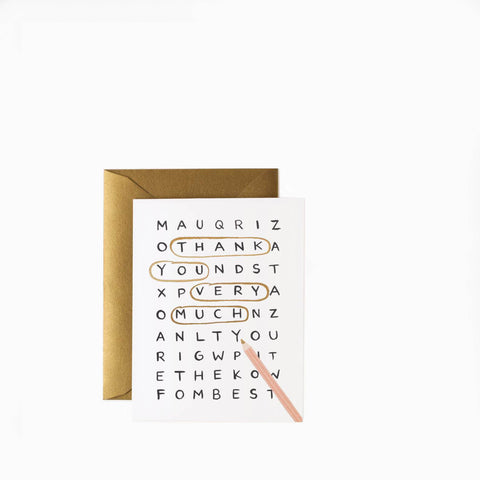 Rifle Paper Co Word Search Thank You