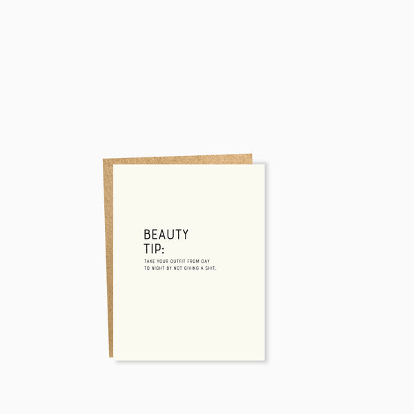 Sapling Press Card - Beauty Tip Outfit