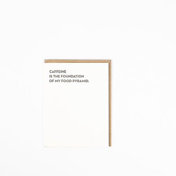 Sapling Press Card - Caffeine