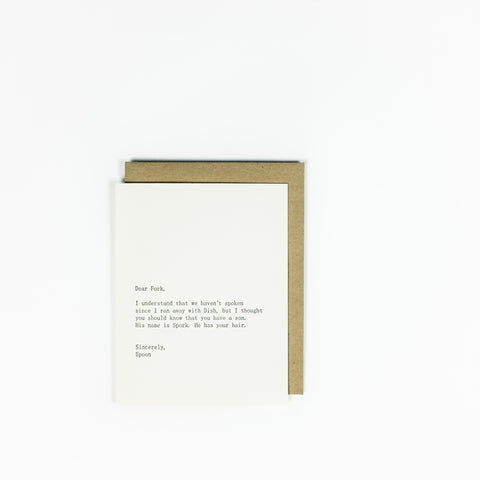 Sapling Press Card - Fork/Spoon