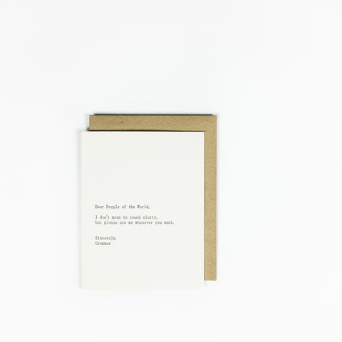 Sapling Press Card - Grammar
