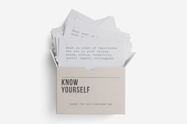 The School of Life Know Yourself Card Set Sample