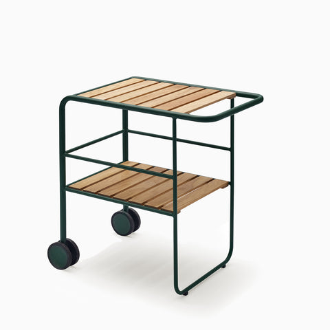 Skagerak Fuori Serving Trolley Hunter Green