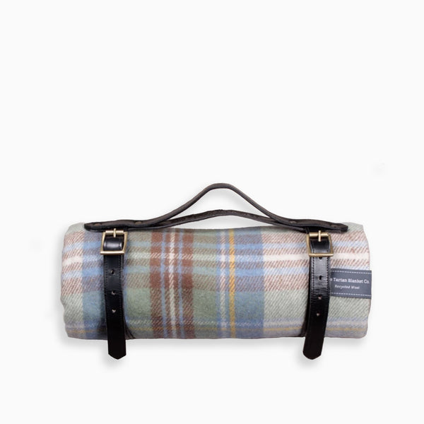 The Tartan Blanket Co Stewart Muted Blue Tartan