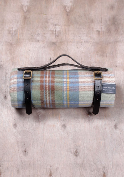 The Tartan Blanket Co Picnic Blanket  - Stewart Muted Blue Tartan
