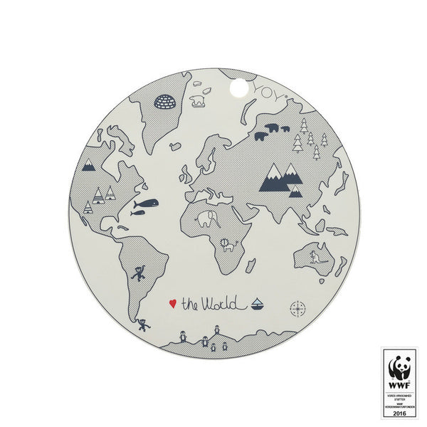 OYOY The World Silicone Placemat