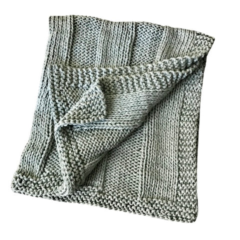 Ribbed Baby Blanket - Slate
