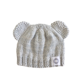 Baby Bear Beanie + Ankle Boots - Grey