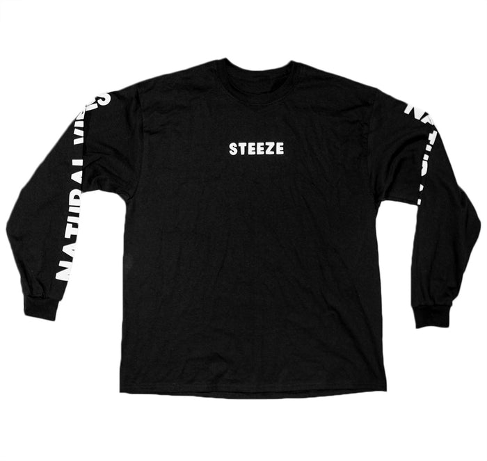 Natural Vibes Long Sleeve Black Tee
