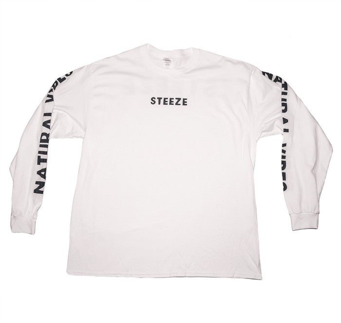Natural Vibes Long Sleeve White Tee