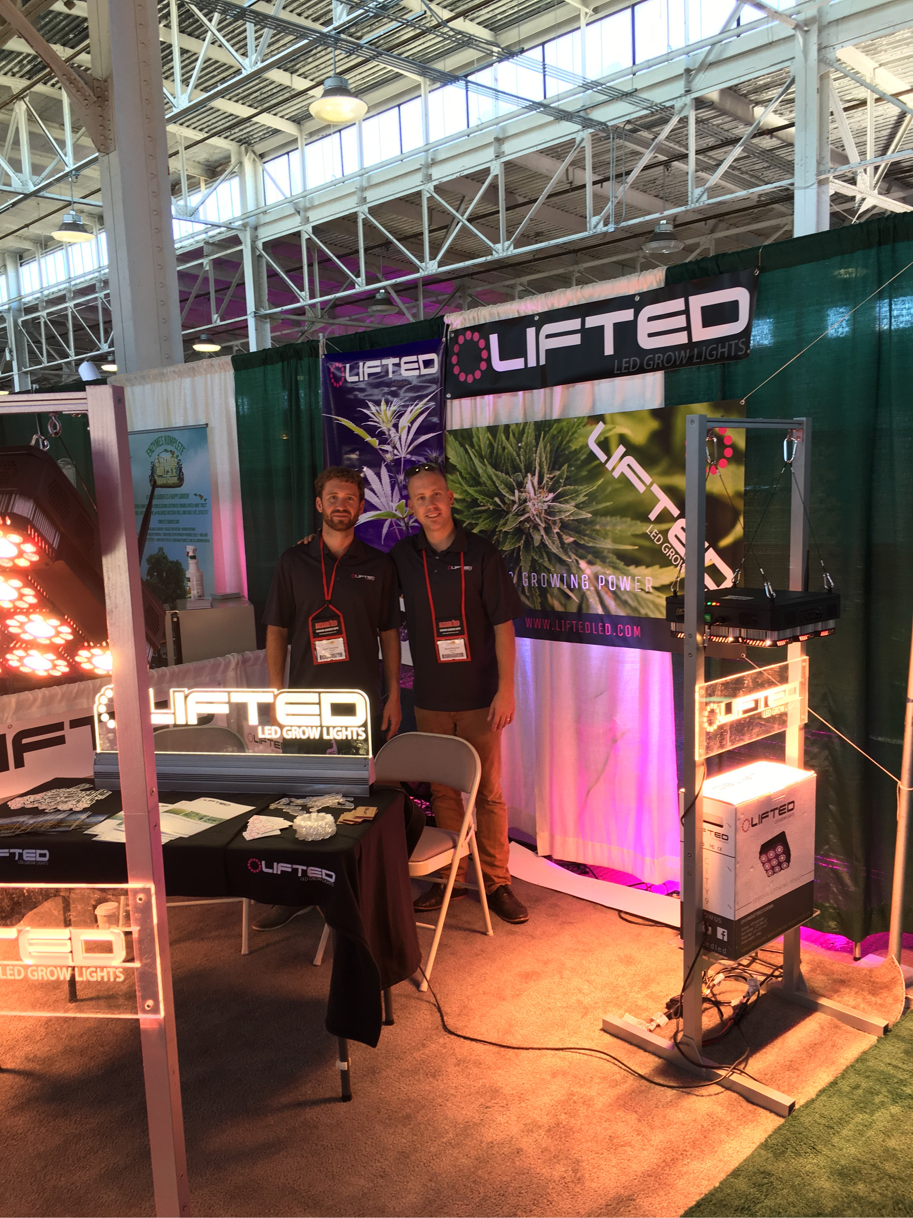 Jaxon and Geoff manning the Lifted LED booth at High Times