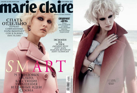 Marie Claire Russia - Tracy Clemens - Cover, September 2015