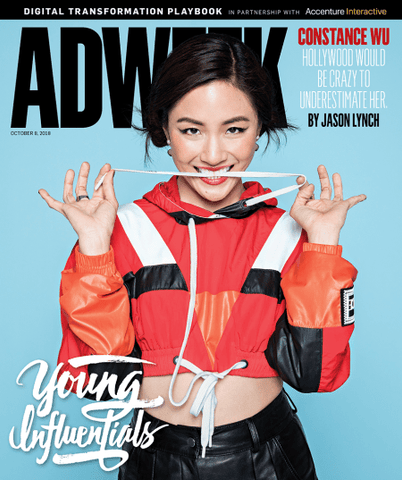 Constance Wu on the cover ADWEEK wearing a Maxus Manicure.