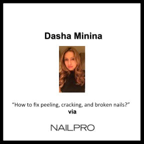 """HOW TO FIX PEELING, CRACKING, AND BROKEN NAILS"" Dasha via NAILPRO"