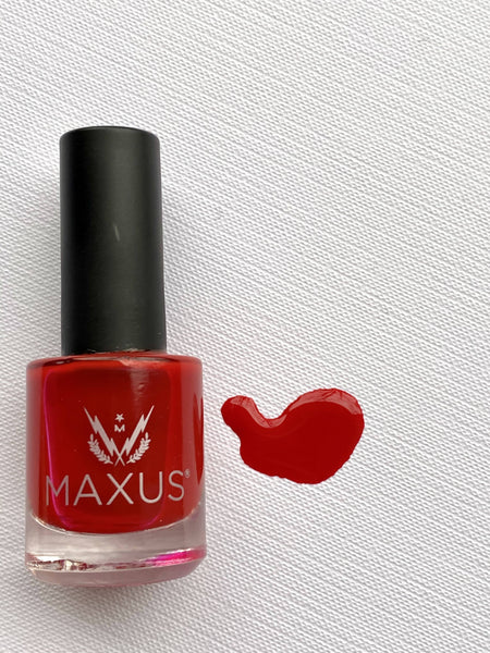 Inspired nail polish - rich boldly energetic primary red Nail Lacquer Maxus Nails