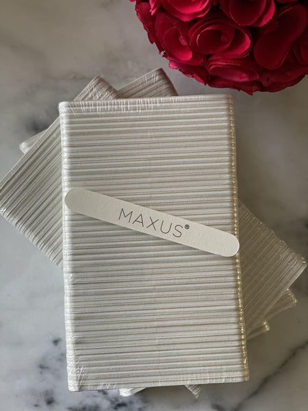 Maxus Nail File 180/240 Grit (Pack of 50) NAIL FILE PACK Maxus Nails