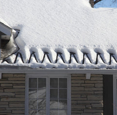 Heat Cable Deicing a Roof