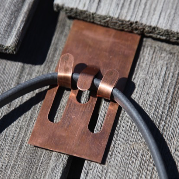 Copper Heat Cable Roof Clips for Slate & Cedar Roofs