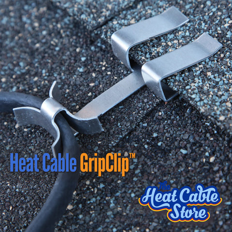 GripClip Heat Tape Cable Clip - Raw Aluminum